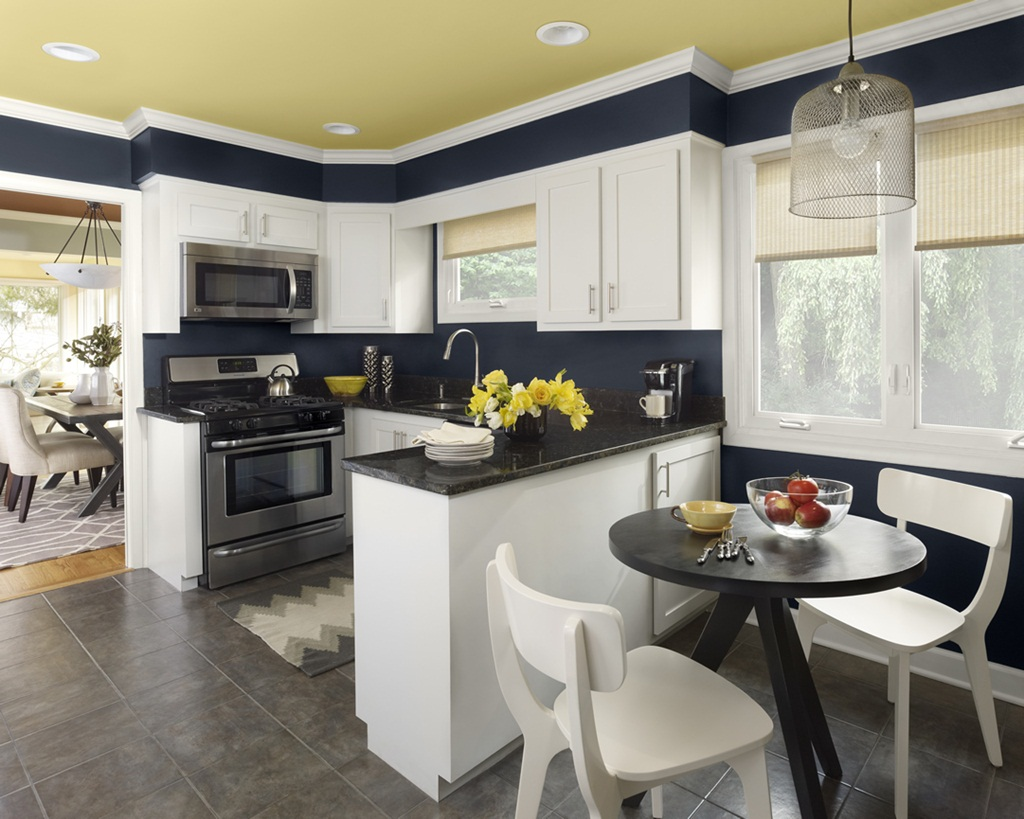 Small Kitchens Brilliant Color Schemes