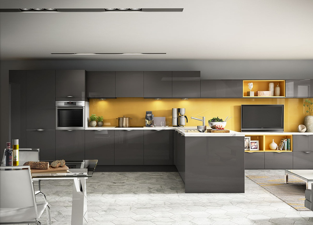 Give Your 2021 Kitchen A Stylish And Trendy Look With Grey And Yellow