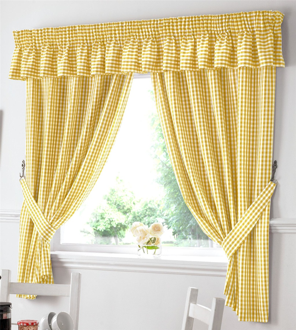 Gingham Curtains Charm Attraction Simple