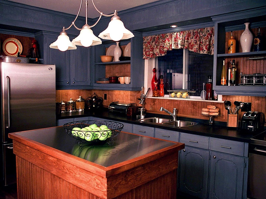Mixed Materials Kitchen Wall Color